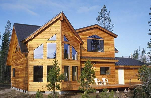 Фото домов с отделкой имитации бруса